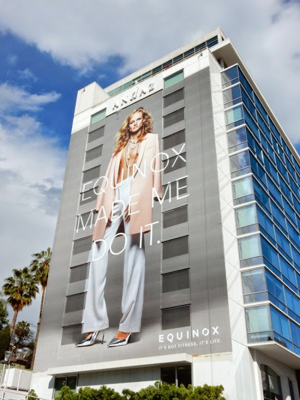 Giant Equinox transgender fashionista billboard