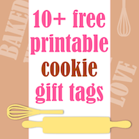 free cookie and baked goods tag printables