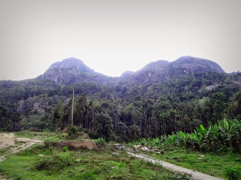 Beautiful mountains in Kerala countryside