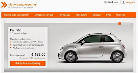 圖說: 新車銷售網站 Nieuweautokopen.nl 讓消費者可透過網路搜尋與比較汽車詳細規格,可以安排試車,也可直接網路下單訂購, 圖片來源: 網站截圖