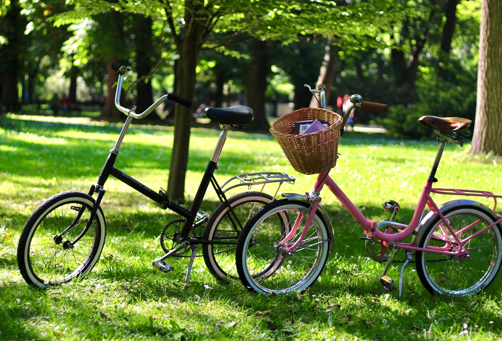 retro bike, pink bike, skladacky, folding bike