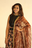 Lasya looks super cute in black choli Saree at Raja Meru Keka Press Meet ~  Exclusive 104.JPG