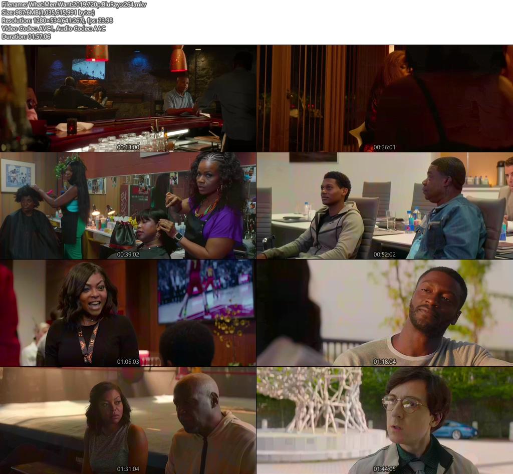 What Men Want 2019 720p BluRay x264 | 480p 300MB | 100MB HEVC Screenshot