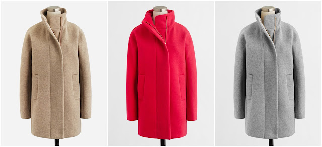 J. Crew Factory City Coat $55-$70 (reg $228)