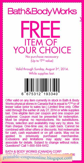 Bath n body coupons in store
