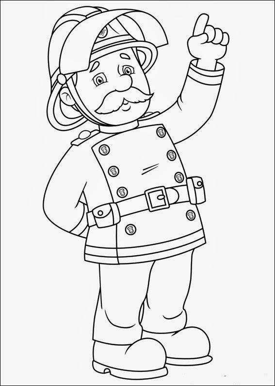 Gratis Kleurplaten Fireman Sam.Malvorlagen Feuerwehrmann Sam Fireman Sam Coloring