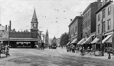 Harvard Square, Brookline, circa 19108