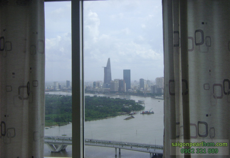 view sông sài gòn và quận 1 tại căn hộ 2 phòng ngủ saigon pearl