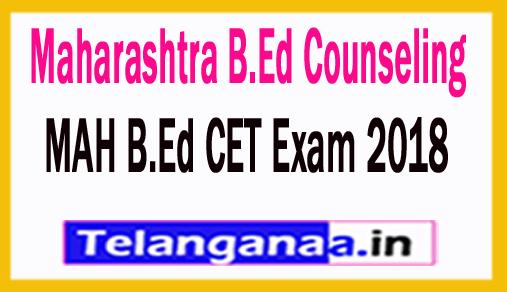 Maharashtra B.Ed Counseling 2018