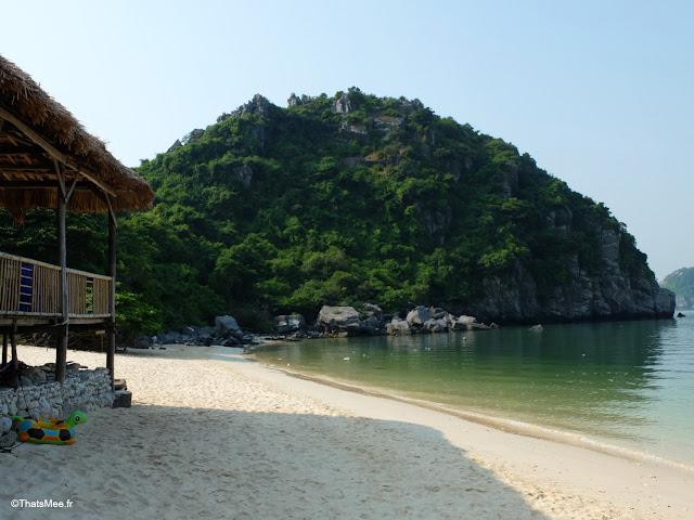 plage cam vat ra ile aux singes baie halong voyage vietnam tour bateau par cat ba, mer montagne paysage vietnam