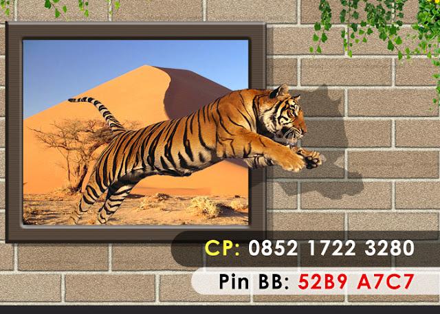 Lukisan Harimau 3D