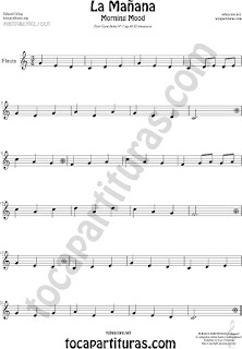 Flute and Recorder Sheet Music for Morning Mood Classical Music Scores