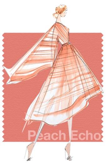 PANTONE 16-1548 Peach Echo