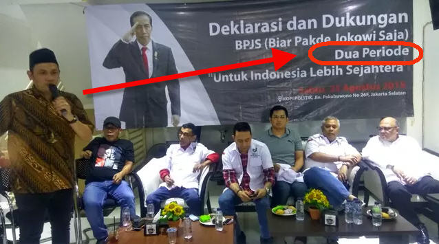 Deklarasi Dukung #Jokowi2Periode yang Dipimpin Farhat Abbas Berjalan Lancar