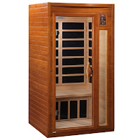 Dynamic Saunas AMZ-DYN-6106-01 Barcelona 1 to 2-Person Far Infrared Sauna, 6 heaters, temperatures up to 140F, double-layer Canadian Hemlock Wood for strength & heat insulation