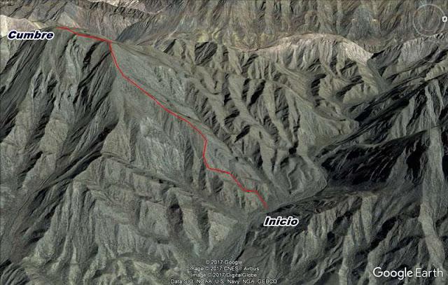 Senda, Trekking, Cerro La Tordilla, filo, ascenso