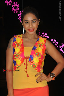 Telugu Actress Model Sri Reddy Latest Stills in Yellow Dress  0025.JPG