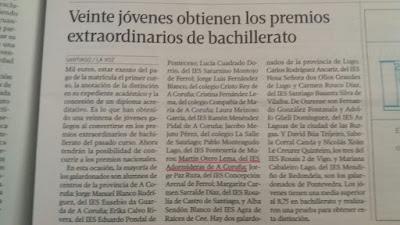 PREMIO EXTRAORDINARIO DE BACHARELATO