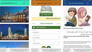 Aplikasi Jadwal Ramadhan 1439 H 2018