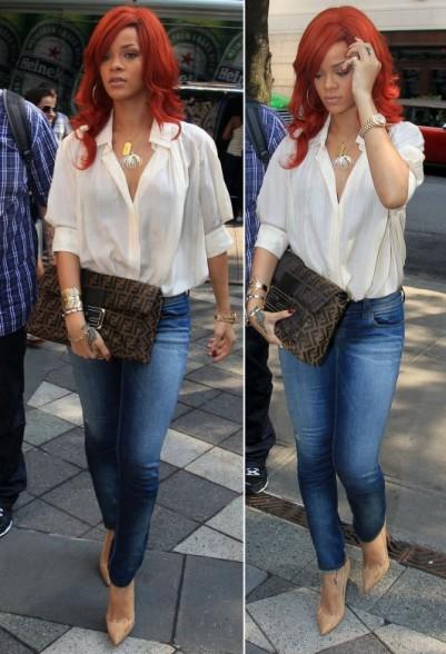 Elizabeth Parker: Rihanna's casual clothing style