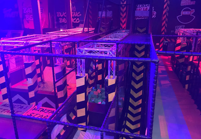 ninja assault course at Jump 360 Newcastle
