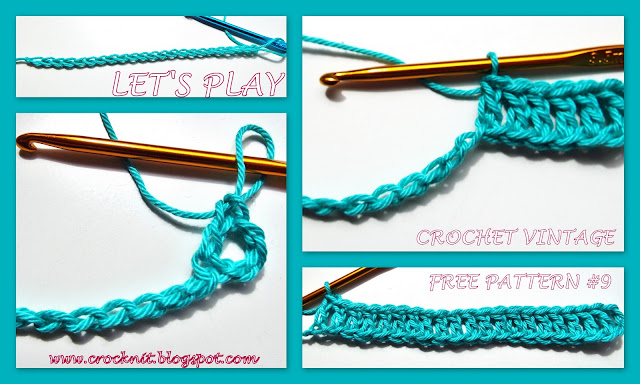 free crochet patterns, crochet vintage, sideways stitch, how to crochet,