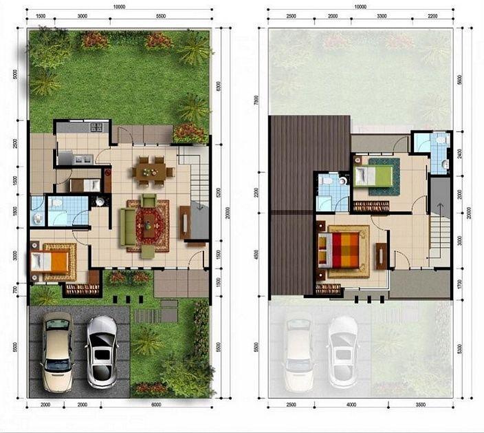 denah rumah tipe 150 yang minimalis