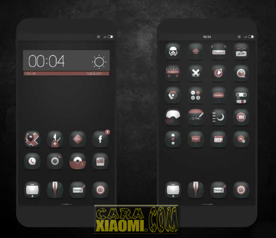 MIUI Theme Sobo Dark Mtz Full Material For V9 dan V8