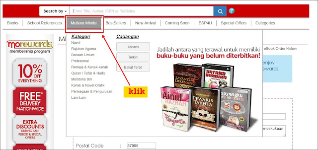 Cara Membeli Buku di MPH Online - Sofinah Lamudin