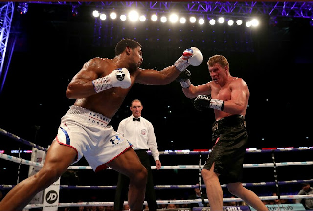 Anthony Joshua KOs Alexander Povetkin In Seven Roumds