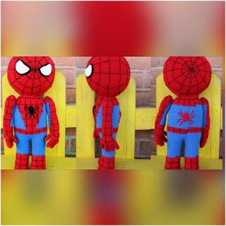 patron amigurumi Spiderman crochet y amigurumis