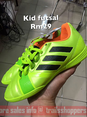 Kids Futsal Shoes RM29 at Sport Planet Warehouse Sale