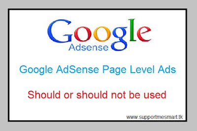 Why to use Page-level adsense by Adsense
