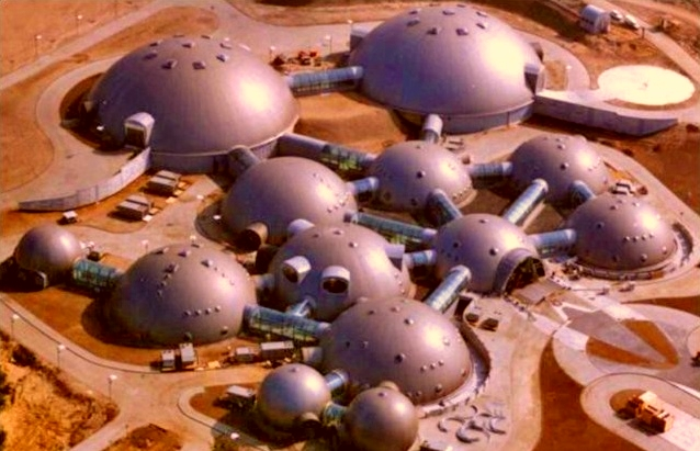Gremi Park in Poland that looks like human base on Mars