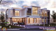 Contemporary Night View Villa - Kerala Home Design And