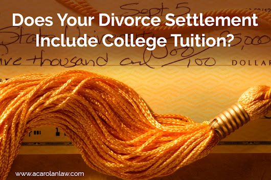 Does Your Divorce Settlement Include College Tuition?