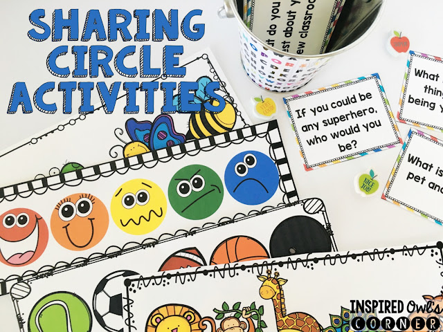 FREEBIE Sharing Circle Activities