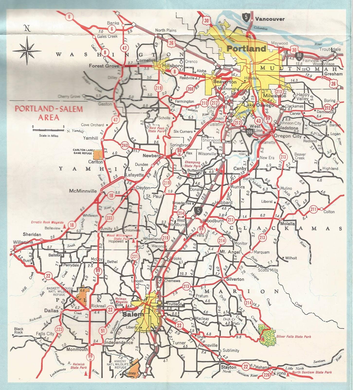 The ZehnKatzen Times: [OR_liff] Portland-Salem Area Map, From ODOT, 1971
