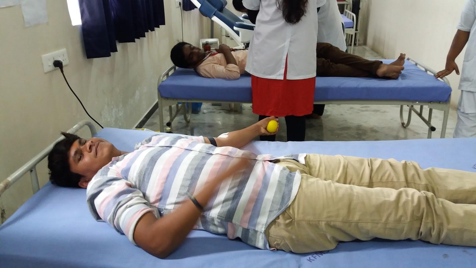 Blood Donation Camp in Karpagam Medical College