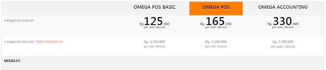 Harga paket aplikasi kasir online Omegasoft