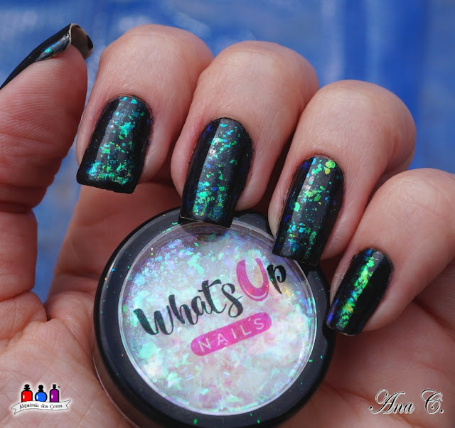 What´s Up Nails, Mermaid Flakies, cosmay black