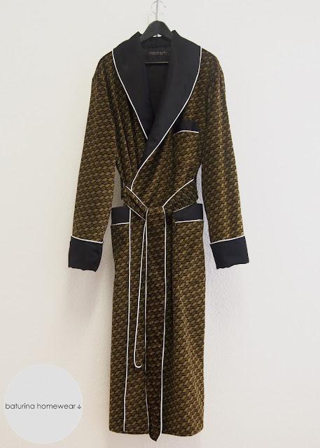 long robe velvet silk dressing gown men mens luxury warm lined winter thick luxury striped housecoat elegant dapper
