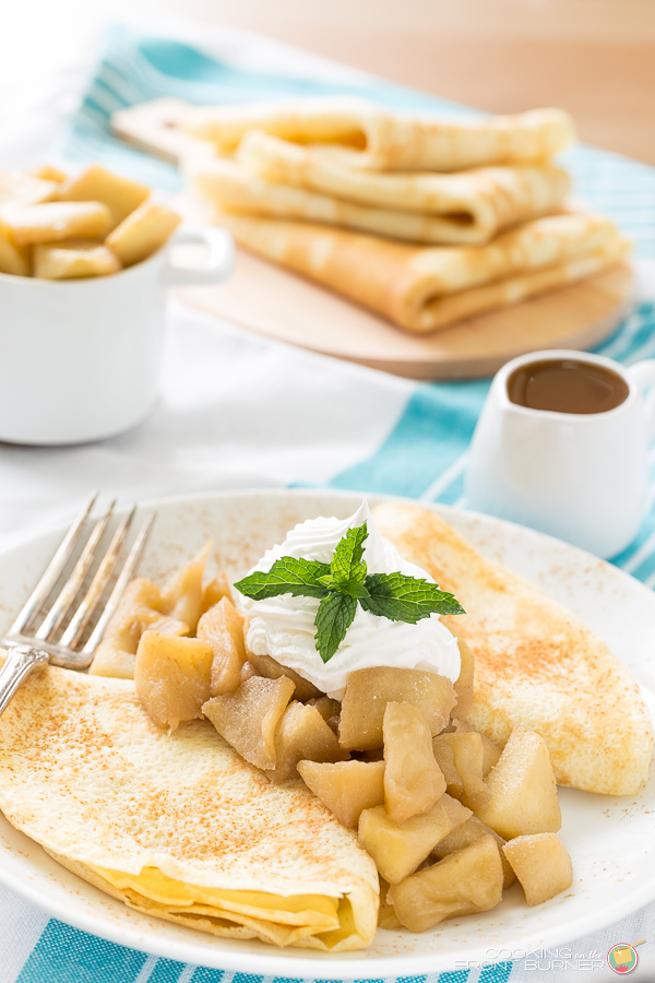 Apple Crepes with Caramel Sauce | Cooking on the Front Burner