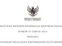 Permenkes No. 30 Tahun 2014 Tentang Standar Pelayanan Kefarmasian Di Puskesmas