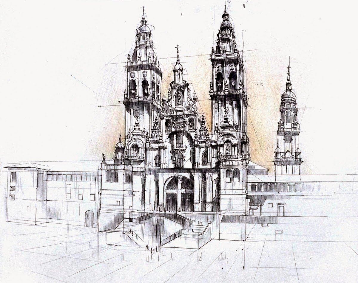 14-Gothic-Cathedral-Łukasz-Gać-DOMIN-Poznan-Architectural-Drawings-of-Historic-Buildings-www-designstack-co