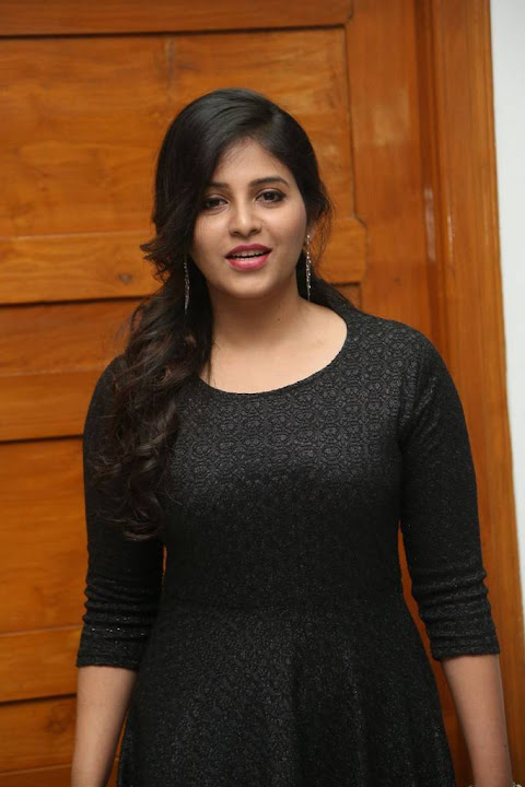 Anjali at Chitrangada Movie Success Meet