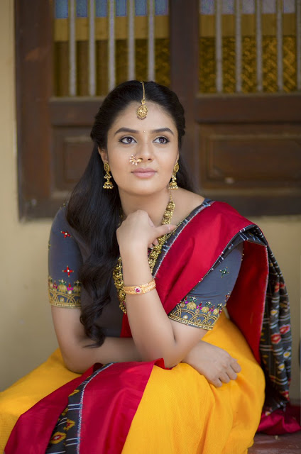 Telugu actress traditional designer wear images