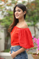 Rhea Chakraborty in Red Crop Top and Denim Shorts Spicy Pics ~  Exclusive 206.JPG