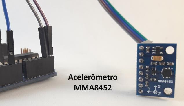 Acelerômetro 3 eixos MMA8452 Arduino