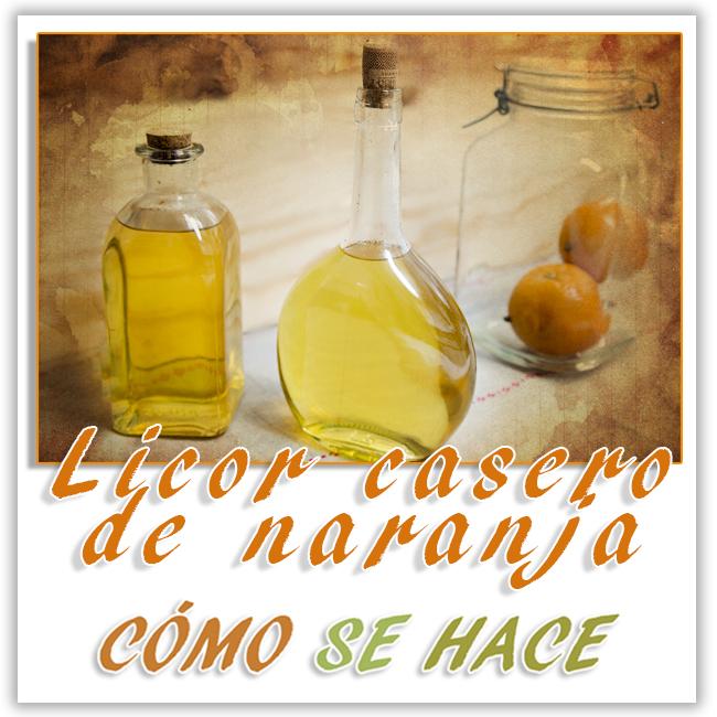 Licor casero de naranja